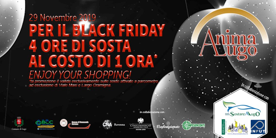 Il 29 novembre 2019 è Black Friday a Lugo!